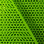 Perforerad plåt grön